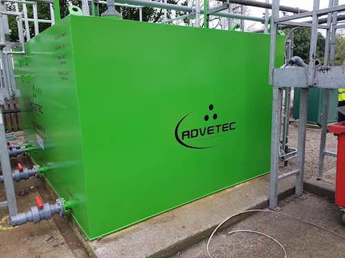 Advetec Bio-Reactor for wastewater treatment completed