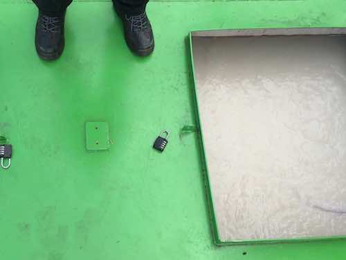 Advetec Bio-Reactor for wastewater treatment open hatch