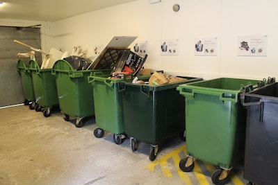 Segregation of waste from businesses