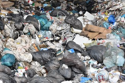 Waste from municipalities ends up in landfill