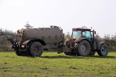 Sludge spread on land as fertiliser