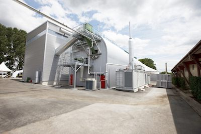 Dry-AD biogas production plant