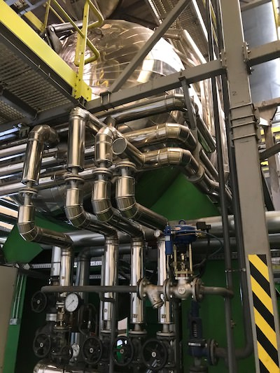 Autoclave pipework