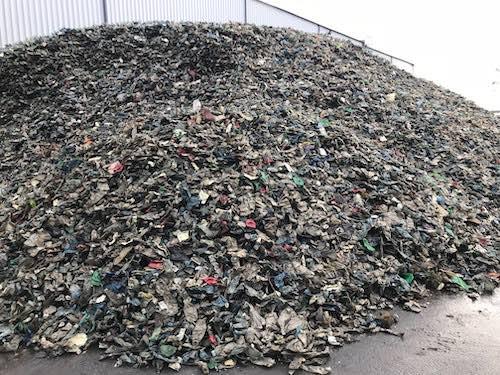 Separated clean plastics